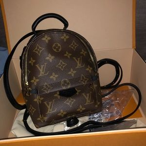 LOUIS VUITTON MINI PALM SPRING MONOGRAM BACKPACK